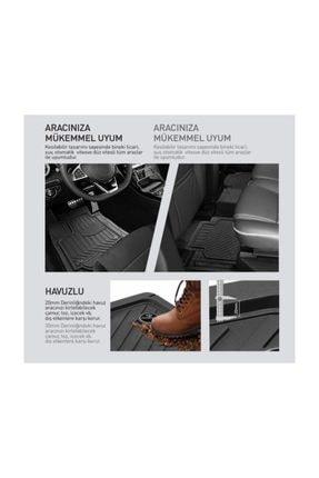 AutoEN Hyundai I20 Uyumlu 4d Havuzlu Premium Paspas Seti Siyah Kesimli 2