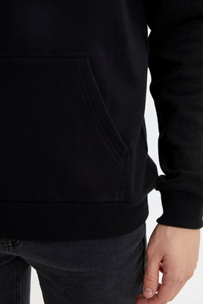 Defacto Kapüşonlu Slim Fit Reflektör Baskılı Sweatshirt 2