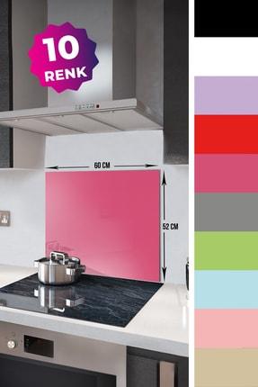 Decorita Düz Renk - Neon Pembe   Cam Ocak Arkası Koruyucu     52cm x 60cm 1