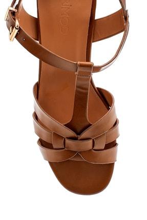 Derimod Kadın Taba Topuklu Sandalet 4