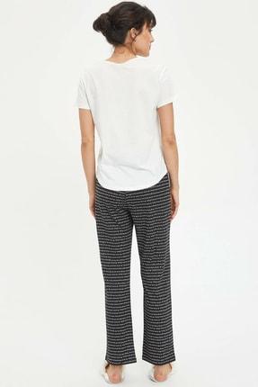 Defacto Kadın Siyah Baskılı Pijama Takımı N2462AZ.20SP.BK27 3