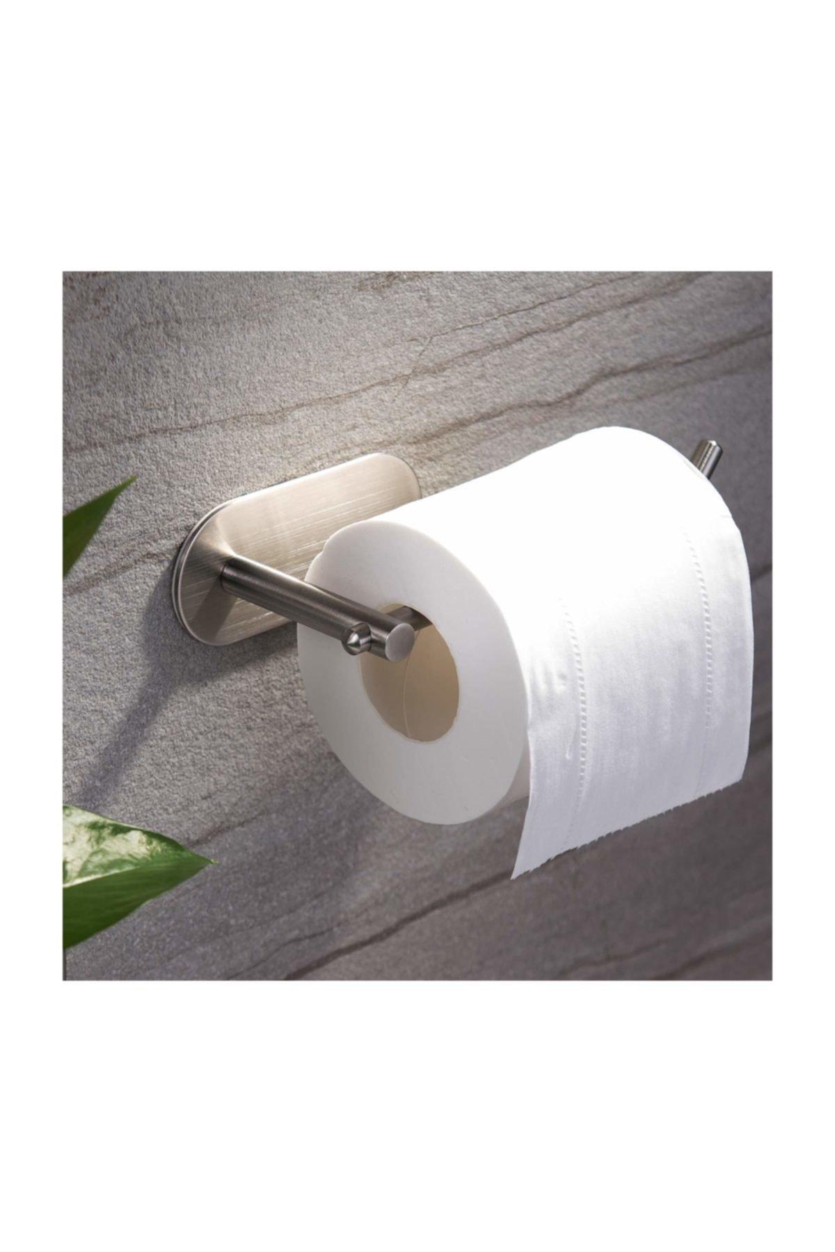 Paslanmaz Çelik Tuvalet Kağıtlığı - Wc Kağıtlık Aparatı - Yapışkanlı Sistem - Model: Hamburg