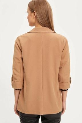 Defacto Kadın Bej Regular Fit Basic Blazer Ceket N1286AZ.20SP.BG630 4