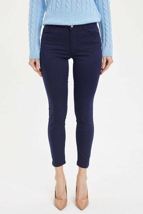 Defacto Kadın Lacivert Slim Fit Dokuma Pantolon M0649AZ.20SP.NV31 0