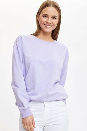 Defacto Basic Düşük Omuzlu Sweatshirt 2