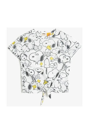 Koton Ekru Kız Çocuk T-Shirt 0YKG17045OK 3