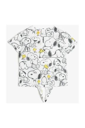 Koton Ekru Kız Çocuk T-Shirt 0YKG17045OK 0
