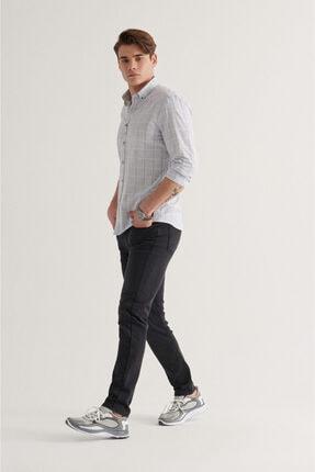 Avva Erkek Siyah Slim Fit Jean Pantolon A11y3554 4