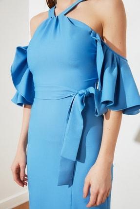 TRENDYOLMİLLA Mavi Yaka Detaylı Abiye & Mezuniyet Elbisesi TPRSS21AE0152 2