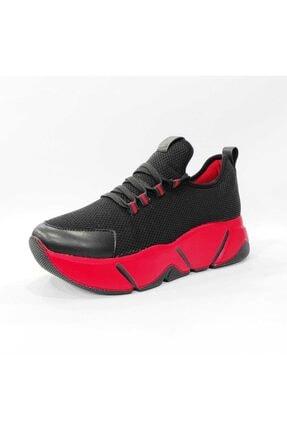 Mnz shoes Rsl Kalın Taban Triko Kumaş Çift Bağcıklı Kadın Günlük Spor Ayakkabı 2