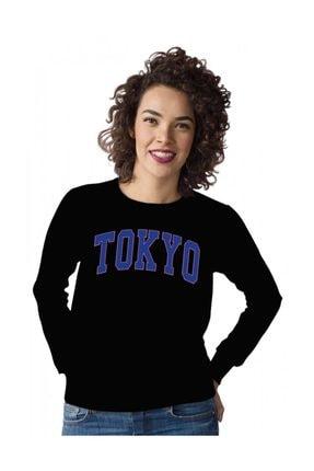 Angemiel Wear Mavi Renkli Tokyo Kadın Sweatshirt 0