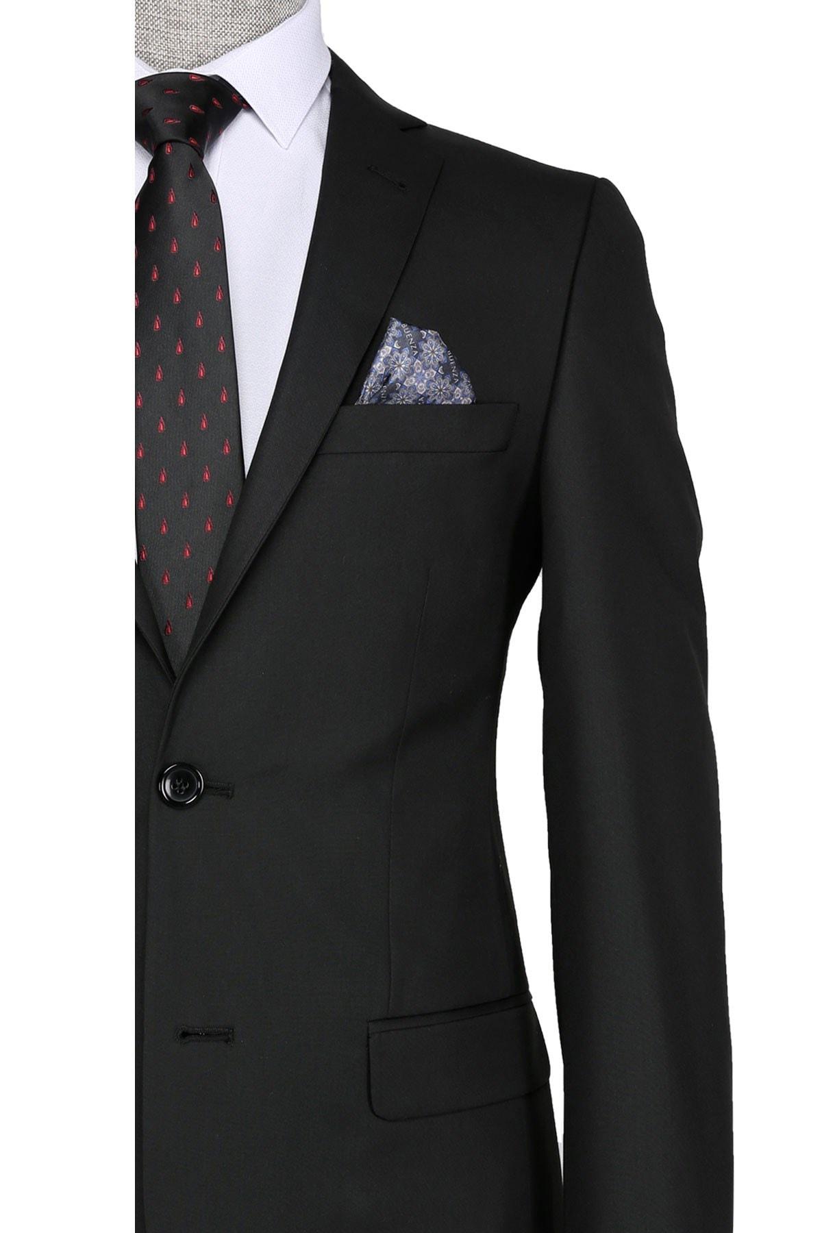 Buenza Slim fit Siyah Erkek Takım Elbise 1