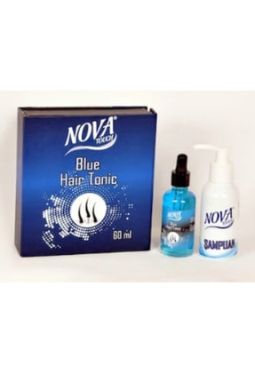 Nova Mavi Saç Dökülmesi Serum Tonik Su Ve Şampuan 0