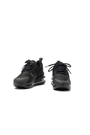 poulaine Siyah Rahat Air Taban Unisex Mevsimlik Spor Sneakers 1