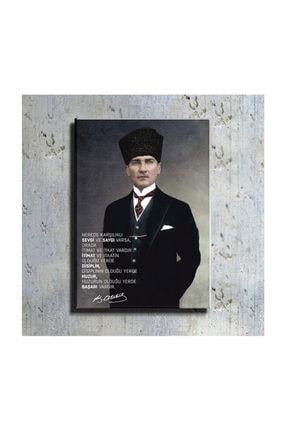 mağazacım Atatürk Takım Elbiseli Portre 50 Cm X 70 Cm Kanvas Tablo Tbl1194 0