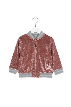 Picture of Kız Çocuk Kadife Fermuarlı Ceket