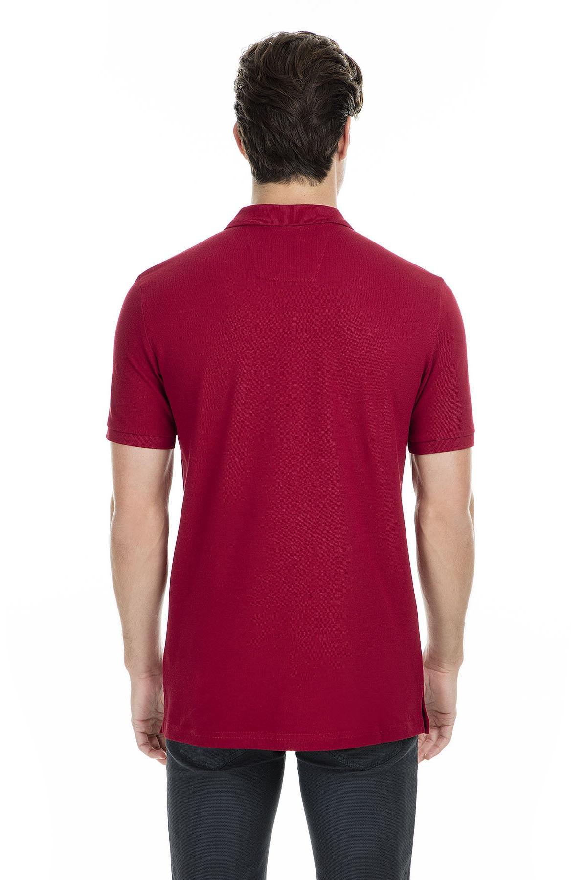 Sabri Özel Erkek Bordo Polo Yaka T-Shirt - T446688 1
