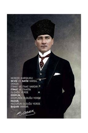 mağazacım Atatürk Takım Elbiseli Portre 50 Cm X 70 Cm Kanvas Tablo Tbl1194 2