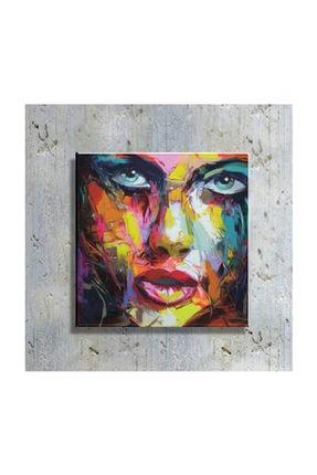 mağazacım Anonim Soyut Kadın Portre Yağlı Boya Reprodüksiyon 50 cm X 50 cm Kanvas Tablo Tbl1015 0