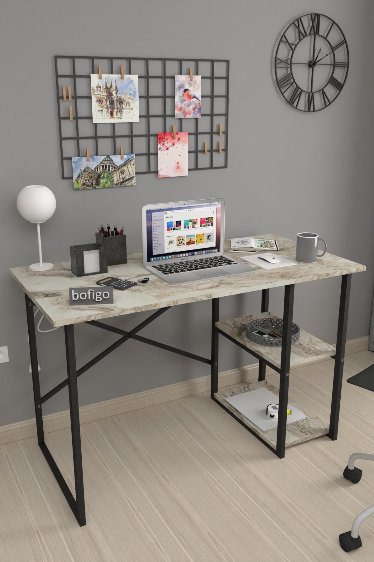 60x120 Cm 2 Raflı Çalışma Masası Bilgisayar Masası Ofis Ders Yemek Masası Efes