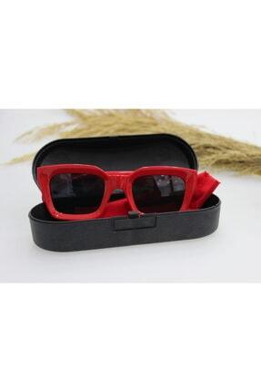 ModaLand New Mia Kare Kadın Kırmızı Güneş Gözlüğü 3