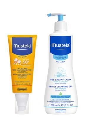 Mustela Gentle Cleansing Gel 500ml +  Güneş Kremi 200 Ml   Orijinal Boy Yaz Bakım Seti 0