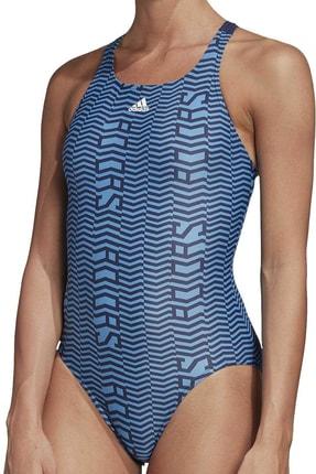 adidas Kadın Mavi Lınage S Yüzücü Mayosu Fj4522 Sh3.ro 0