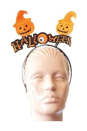Pandoli Cadılar Bayramı Halloween Yazılı Somurtan Yüz Balkabağı Tacı 0