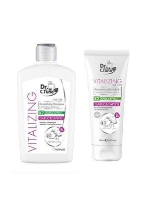 Farmasi Dr C. Tuna Vitalizing Sarımsaklı Şampuan 500 Ml + Saç Bakım Maskesi 200 Ml 0
