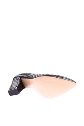 Dgn Siyah Petek Kadın Topuklu Ayakkabı 374-148 3