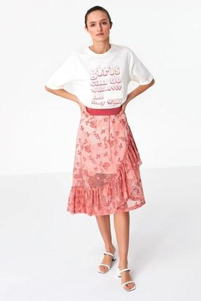 Twist Kadın Beyaz Payet İşlemeli Tshirt TS1200070080002 1