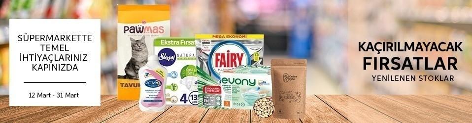 Süpermarkette Temel İhtiyaçlarınız Kapınızda