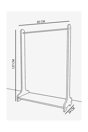 Remaks Still Portmanto  Ayaklı Elbise Askısı Ve Konfeksiyon Askılık Elbise Dolabı - Beyaz 1