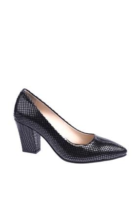 Dgn Siyah Petek Kadın Topuklu Ayakkabı 374-148 0