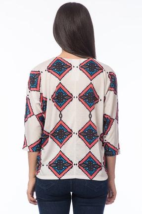 Şans Kadın Bej Yaka Detaylı Bluz 85N5250 1
