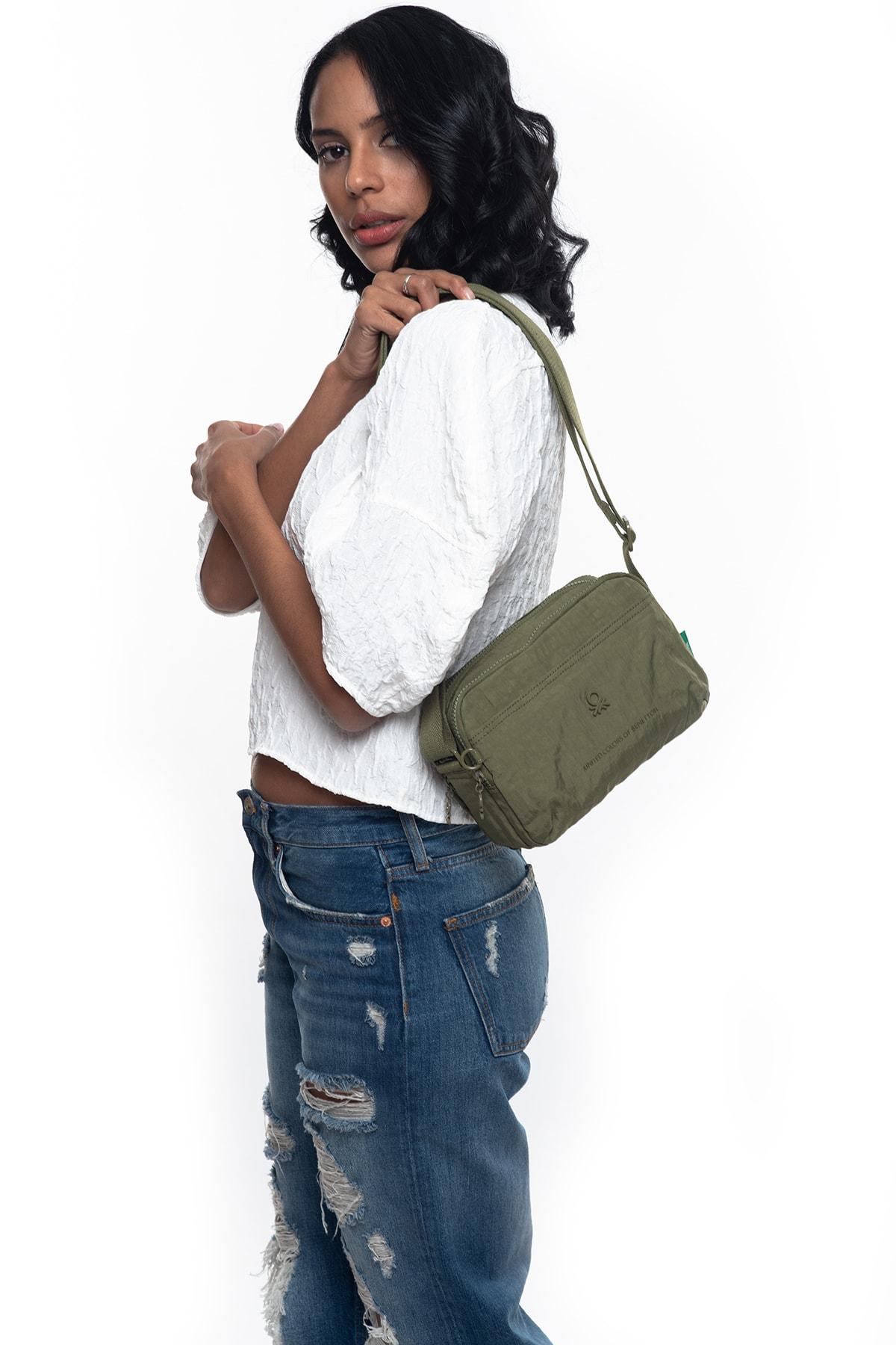 Benetton Haki Kadın Postacı Çantası BNT224 1