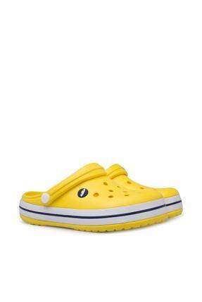 Akınalbella Sarı Şeritli Crocs Terlik 1