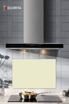 Decorita Düz Renk - Bej | Cam Ocak Arkası Koruyucu | 40cm x 60cm 0
