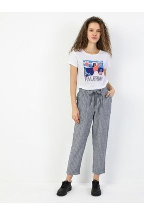 Colin's Regular Fit Orta Bel Düz Paça Kadın Indigo Pantolon 2