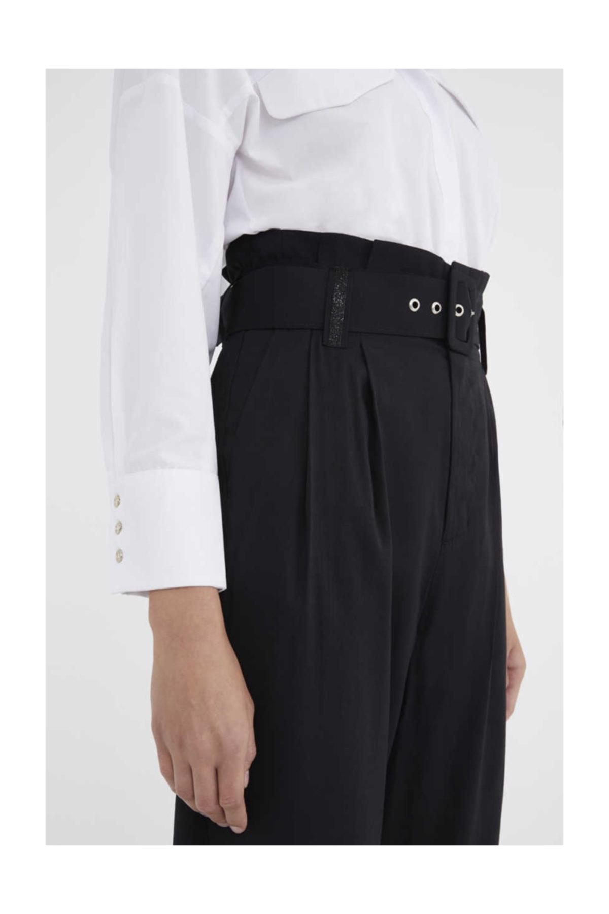 SOCIETA Kemerli Pantalon Siyah 41351