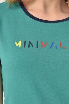 bilcee Yeşil Kadın T-Shirt GS-8070 1