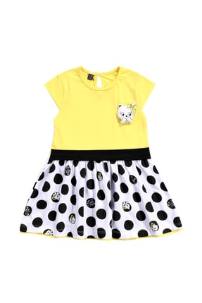 Miniworld Kız Bebek 6/24 Ay Penye Pamuklu Elbise 0