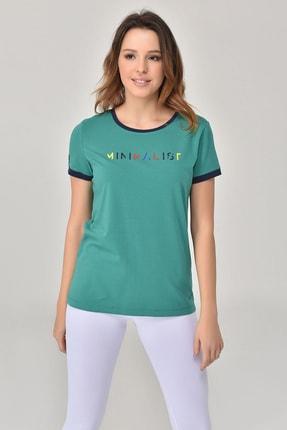 bilcee Yeşil Kadın T-Shirt GS-8070 4