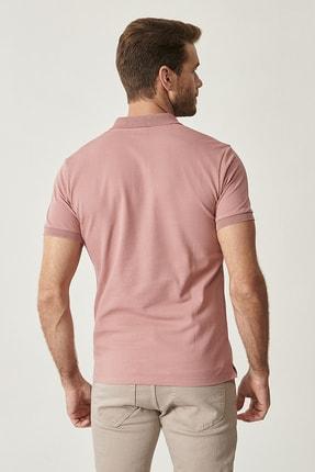 Altınyıldız Classics Erkek Gül Kurusu Polo Yaka Cepsiz Slim Fit Dar Kesim %100 Koton Düz Tişört 3