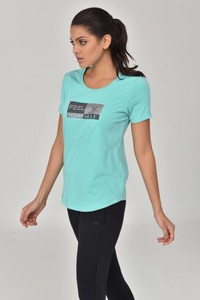 bilcee Turkuaz Kadın T-shirt  GS-8614 4