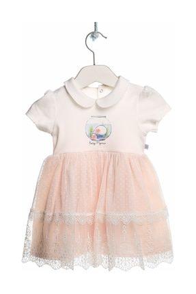 Picture of Balina Kız Bebek Interlok Kısa Kol Bebe Yaka Tek Elbise