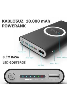 BLUE İNTER 10.000mah Powerbank Kablosuz Sarj Özelliği + Güneş Enerjili 0