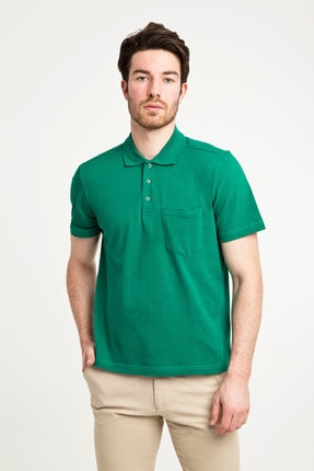 Kiğılı Erkek Yeşildüz Polo Yaka Pıke T-Shırt - Cdc01 0