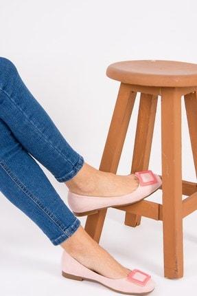 Fox Shoes Pudra Pembe Kadın Babet H726452002 2
