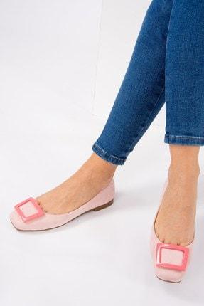 Fox Shoes Pudra Pembe Kadın Babet H726452002 1
